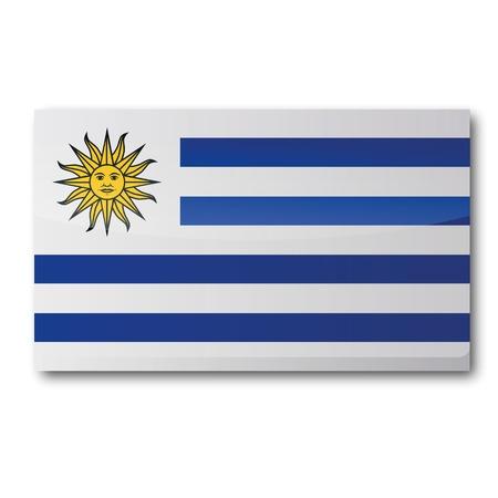 bandera de uruguay: Bandera de Uruguay Vectores
