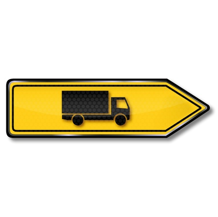 Truck traffic sign, transport and logistics Stock Vector - 15017549