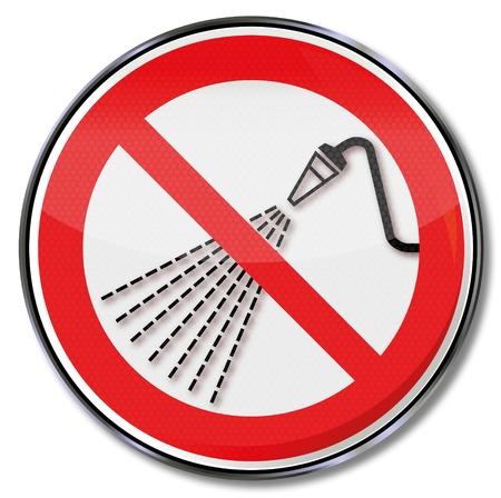 mangera: Prohibición Señales de prohibido chapoteo del agua