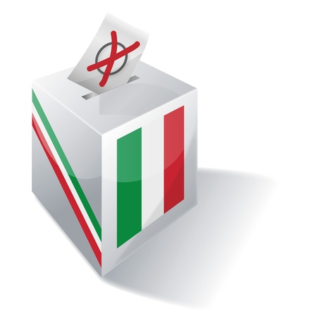Selection box Italy Vector