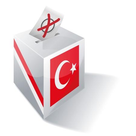 absentee voting: Selection box Turkey Illustration