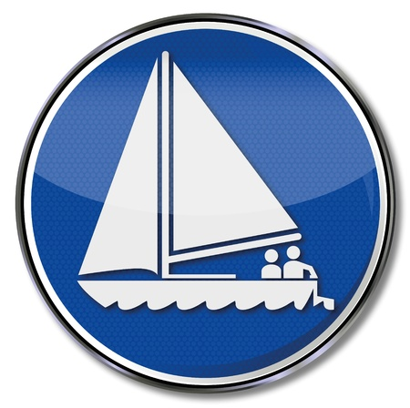 Sign sailboat Stock Vector - 15017558