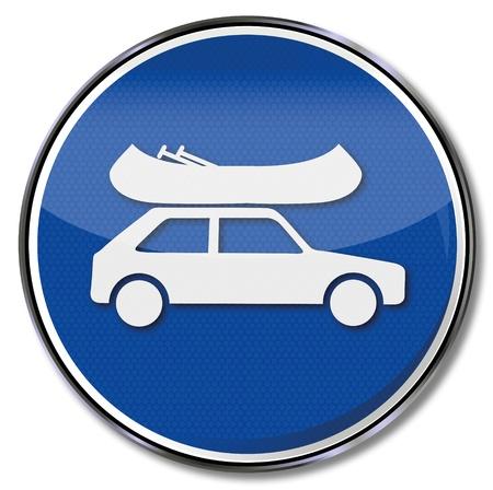 breaks: Shield car with canoe