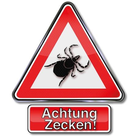Warning sign ticks Stock Vector - 15017553