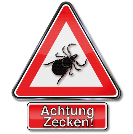 sting: Warning sign ticks