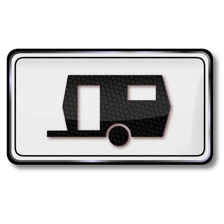 Prohibition sign caravan Stock Vector - 15017552