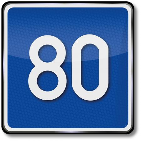 fcc: Road sign 80 Speed