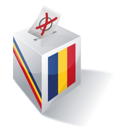 local elections: Selection box Romania Illustration