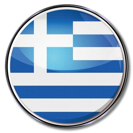 greek islands: Button Greece