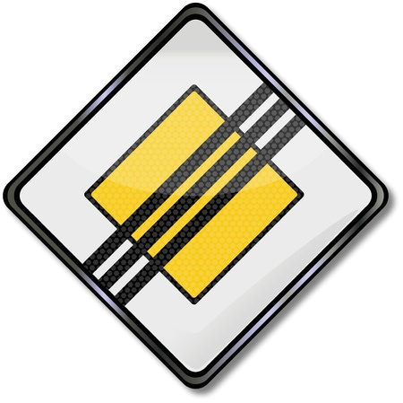 lozenge: Traffic sign right of way Illustration
