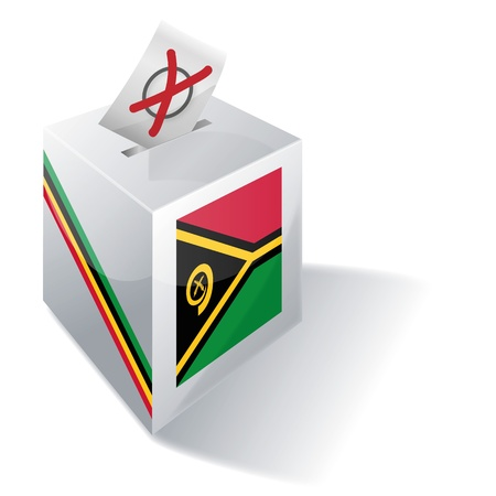 voters: Ballot box Vanuatu  Illustration