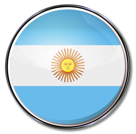 buenos: Button Argentina Illustration