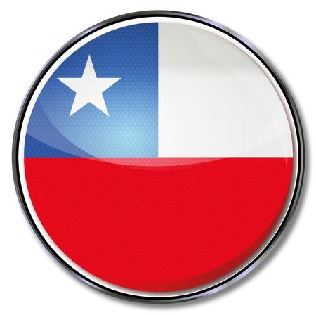 chile flag: Button Chile