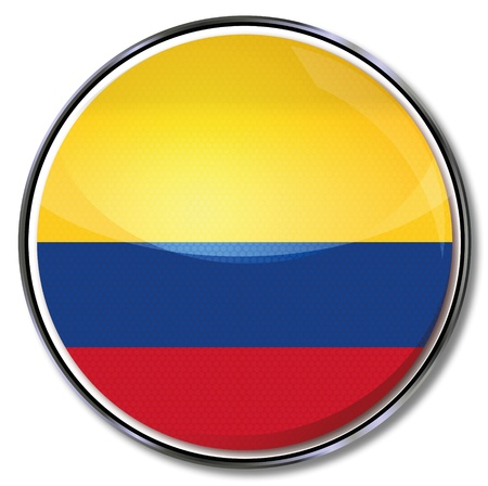 south american: Button Colombia Illustration