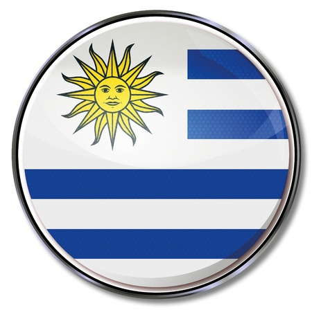 Button Uruguay Stock Vector - 15121717