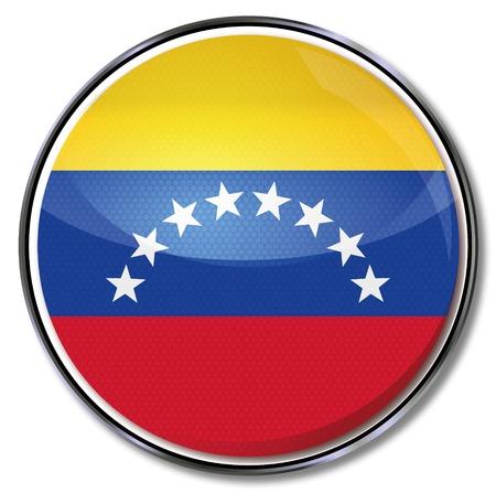 flag button: Button Venezuela Illustration