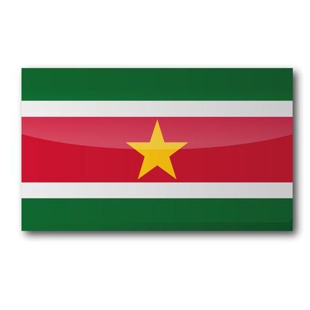 suriname: Vlag Suriname Stock Illustratie