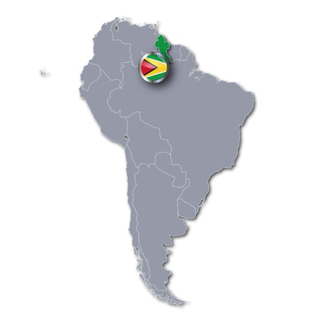 latin americans: Map Guyana