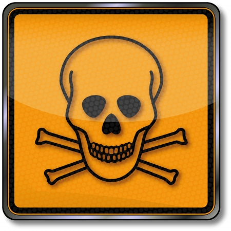 toxic substance: Danger sign toxic substance and skull