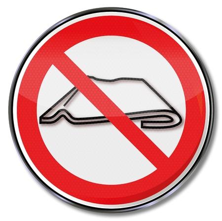 pictogram attention: Prohibition Sign do not fold together Illustration