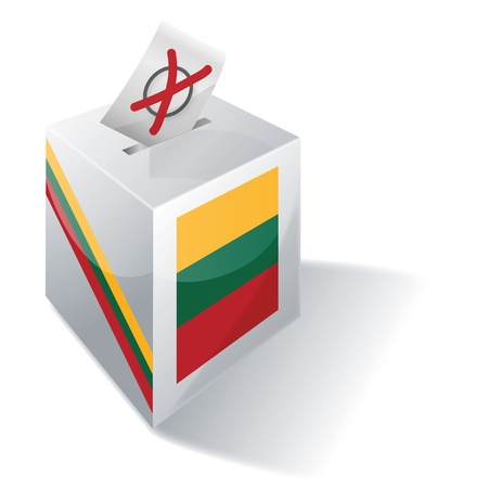 absentee: selection box Lithuania Illustration