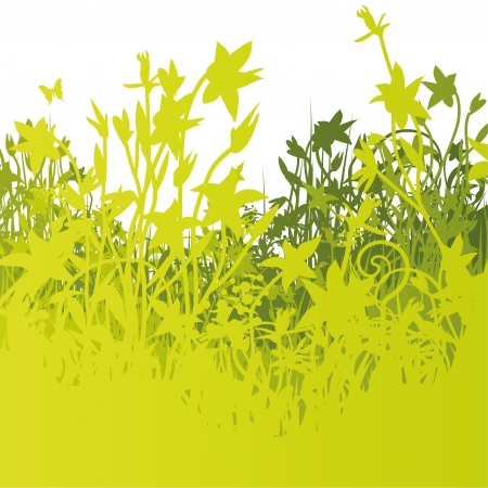 grass silhouette: Blades of grass and lawn Illustration
