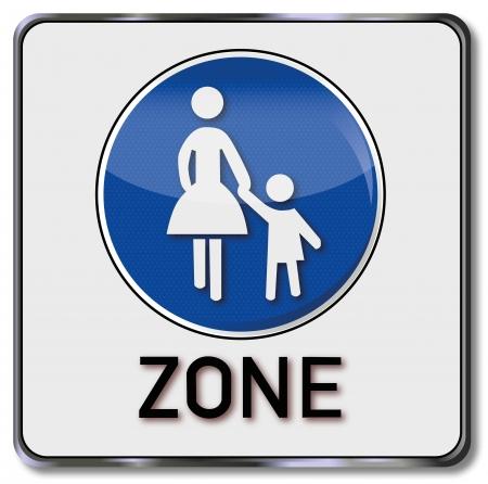 Zone piétonne trafic signe