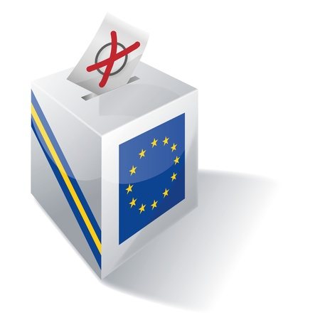 liberal: Ballot Box Europe Illustration