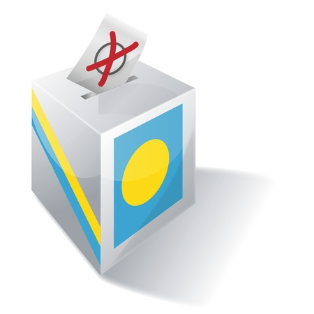 Ballot Box Palau Vector