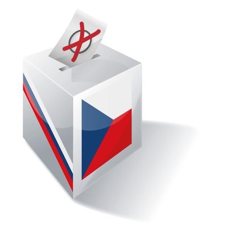 absentee: Ballot Box Czech Republic Illustration