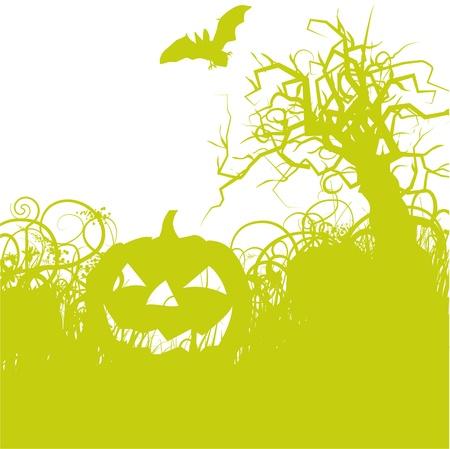 Pumpkin and Halloween Vector