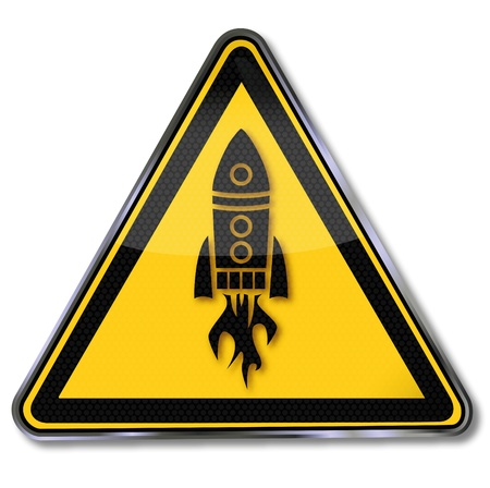 Sign rocket and spaceship Stock Vector - 15494955