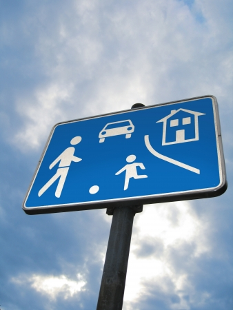 slowness: Traffic sign game road Stock Photo