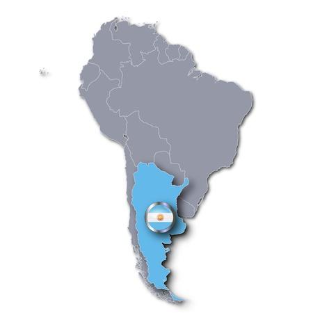 argentina map: Map Argentina Stock Photo
