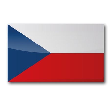 czech republic: Flag Czech Republic Illustration