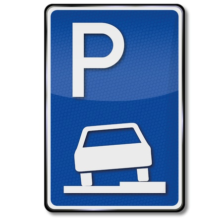 curb: Traffic sign Curb Parking Zone