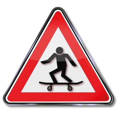 rotations: Sign skateboard and skateboarding Illustration