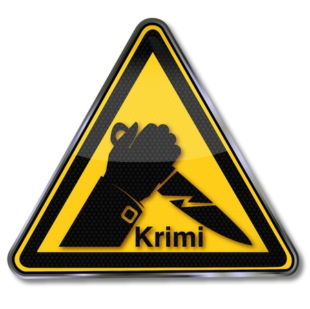 Sign crime and knife Vector