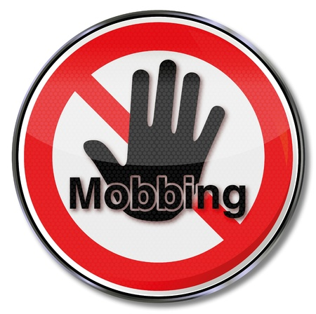 Sign bullying and mobbing Vector