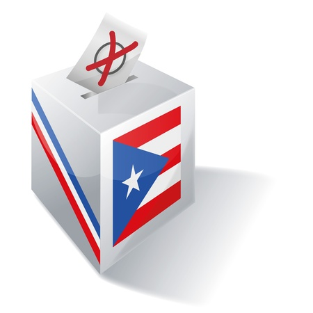 Ballot box Puerto Rico Stock Vector - 15301847