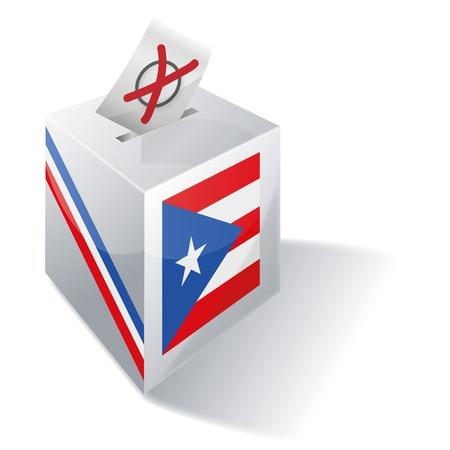 bandera de puerto rico: Urna electoral Puerto Rico