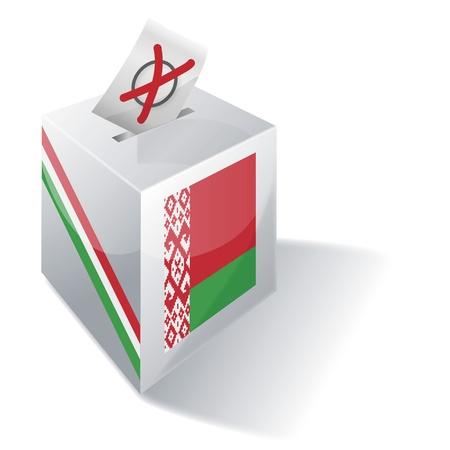 basic law: Ballot box Belarus Illustration