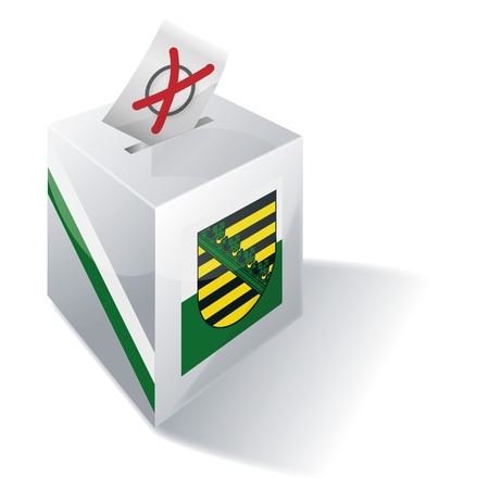 Ballot box Saxony Stock Photo - 15378032