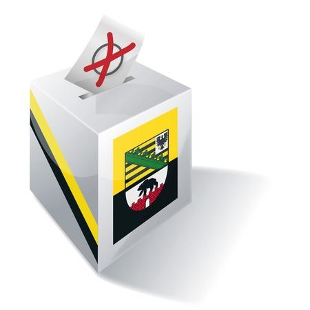 absentee: Ballot box Saxony-Anhalt Stock Photo