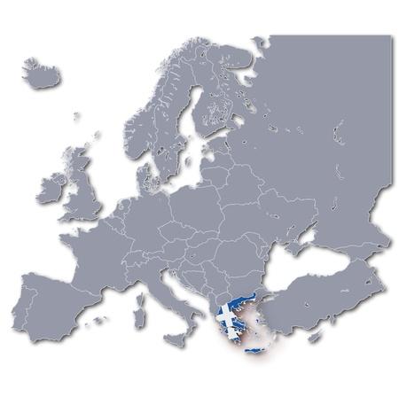 euro area: Map Greece