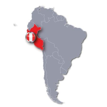 Map Peru photo