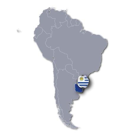 bandera de uruguay: Mapa de Uruguay