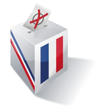 encuestando: Urna electoral Francia Foto de archivo