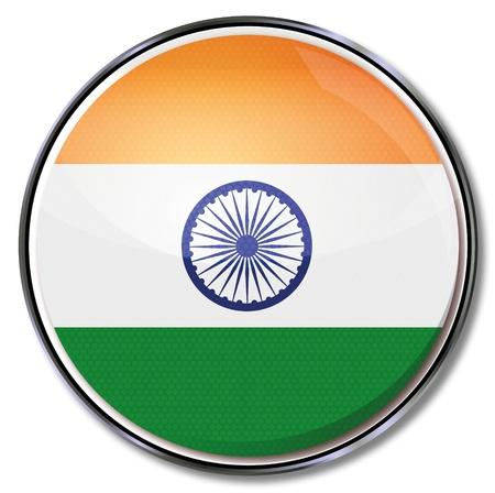 bandera de LA INDIA: Botón India