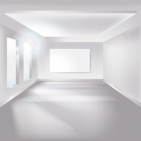 modern living room: white room